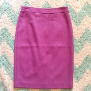 nwt J CREW double-serged wool no. 2 pencil skirt 0